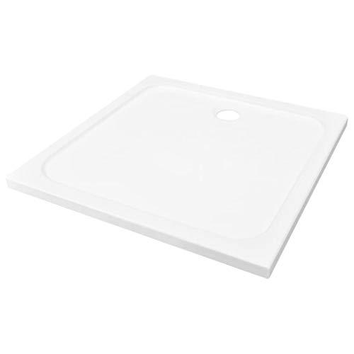 vidaXL Duschwanne ABS Weiß 90x90 cm Duschtasse Bad Brausewanne Korrosionsbeständig Niedrige Schwelle Duschbecken Brausetasse Badezimmer