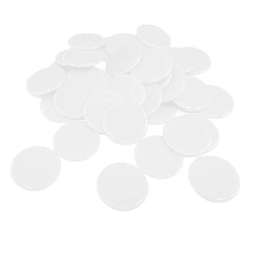 Baoblaze 100 Piezas Juego de Mesa Fichas de Poker Plástico - Blanco