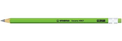 STABILO swano fluo matita in grafite con gommino Verde - Confezione da 12