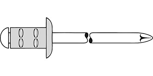 3 x 4 Grau Flachkopf Gesipa 0//2900//000//3,0//4// //01 Blindniete Alu//Stahl Standard 500 St/ück