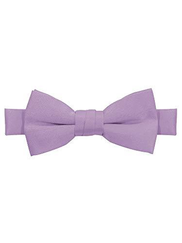 Jacob Alexander Boy's Kids Pretied Banded Adjustable Solid Color Bowtie - Lavender