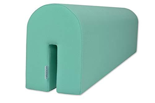 Protector de cama para proteger a tu bebé | seguro y cómodo para tu hijo – Protector de cama de espuma, Mint, 14x20x73