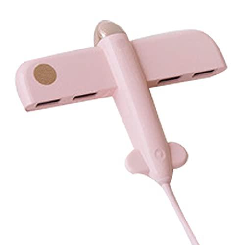 JHTD Splitter USB, Un Hub De Cuatro Líneas De Cuatro Líneas 2.0, Carga Correcta Y Transmisión, Ahorrando Espacio De Escritorio, Compatible con Uso (Rosa)