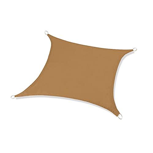 Qagazine Toldo de vela con protección solar rectangular impermeable para jardín, patio