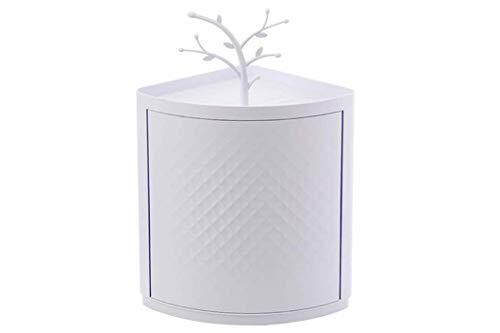 opasd Multifunktions-Lagerregal 360 Grad rotierendes dreieckiges Regal mit Wand-Punching-Badezimmer-Zubehör, drehbares BadezimmerRegal für Badezimmer-Eck-Make-up, Kosmetik, Toilettenartikel und mehr