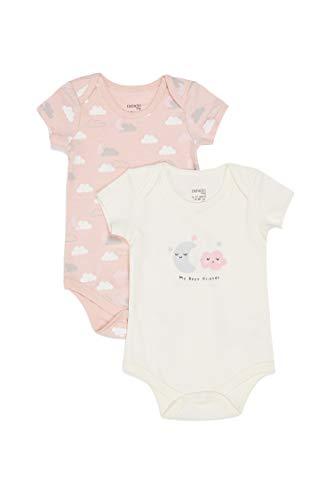 DeFacto BabyGirl - Body de manga corta para bebé Pembe-743-13. 0-3 Meses