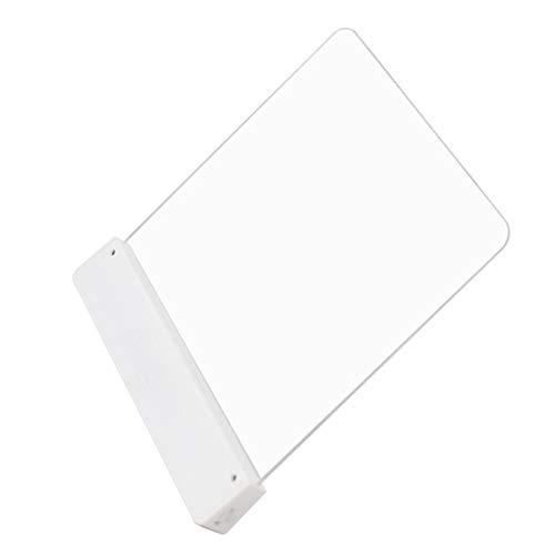 Luz de lectura para tableta LED, luz de libro de bolsillo Luz de intensidad de luz ajustable Luz de lectura nocturna Lámpara de aprendizaje junto a la cama Protección ocular Libro Luz de noche para