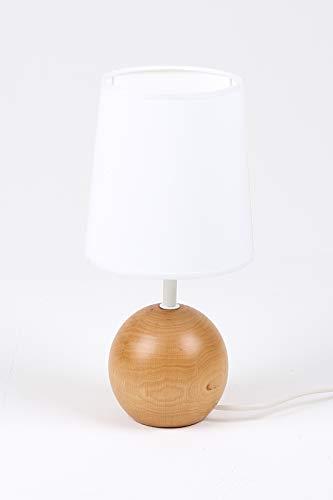 Aluminor SENSO 2 LT staande lamp, hout, lampenkap, wit