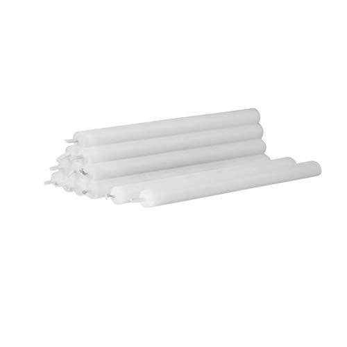 Stoff Nagel Kerzen Set, Wachs, weiß, 18cm