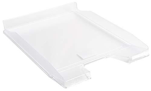 Exacompta Mini Office - Bandeja de correo, color blanco translúcido