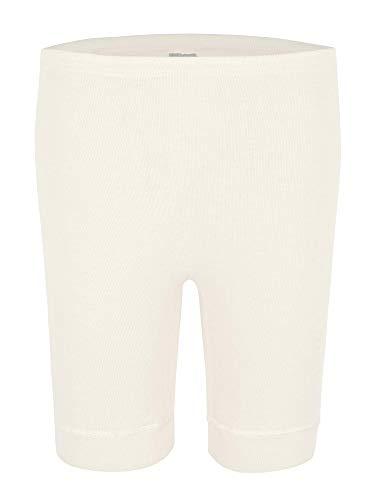 wobera Angora Damen-Unterhose bis Knie mit 40% Angora (Large, weiß)