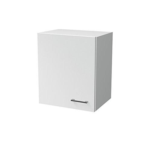 Flex-Well Küchen-Hängeschrank LUCCA   Oberschrank vielseitig einsetzbar   1-türig   Breite 50 cm   Weiß