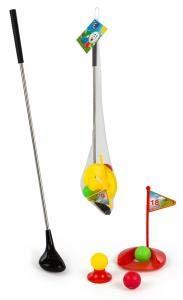 ML Juguetes Juego de Golf para niños 62cm 7 Piezas Barra de Metal Completo Productos de Golf Práctica Juego de Golf Juguetes de Golf para Interiores y Exteriores