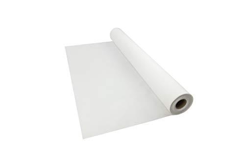 Sensalux Tischdeckenrolle, stoffähnliches Vlies, Oeko-TEX Standard 100 - Klasse I Zertifiziert, Farbe + Größe wählbar (Weiß, 1,50 m x 25 m)
