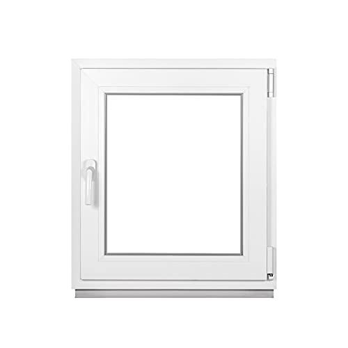 Premium Kellerfenster Von Fenstiger - Kunststofffenster Weiß BxH 500 x 400 mm - Garagenfenster/Gartenhaus Fenster BxH 50 x 40 cm 2-fach Verglast - Din Rechts-Funktion Dreh Kipp Fenster-Alle Größen