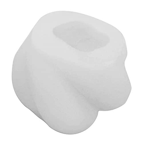 PHILSP Moldes para Velas Molde para Velas en Forma de Nudo Silicona Creativa Fondant Cake Moldes epoxi Fabricación de Velas Blanco