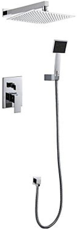 Axiba Duscharmaturen - Zeitgenssisch - Regendusche Handdusche inklusive - Messing ( Chrom )