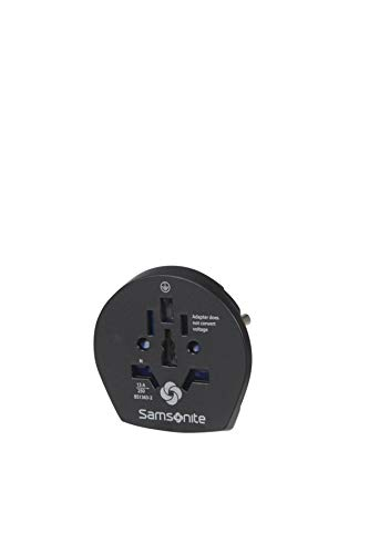 SAMSONITE Global Travel Accessories - World To Europe Grounded Adaptador Internacional 6 Centimeters 1 Negro (Black)