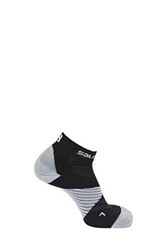 SALOMON Speed Pro 1 Par de Calcetines Tobilleros, Unisex Adulto, Negro/Blanco, S (36-38)