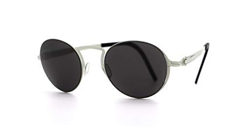 Lunithe Rigel 3 - Gafas solares para hombre y mujer, sin tornillos, diseño innovador francés, metal, minimalista, (acero mate), M