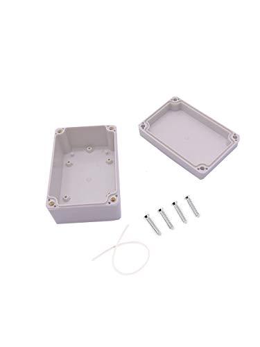 Junction Box, 98 * 66 * 48mm Wasserdicht IP65 Weiß Projekt Fall DIY Anschlussdose Kunststoff Gehäuse Fall Power Abzweigdose