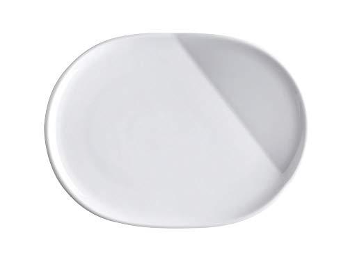 Kahla O 023371A90002C The Better Place Plateau Ovale en Porcelaine Blanc Ø 23,5 cm