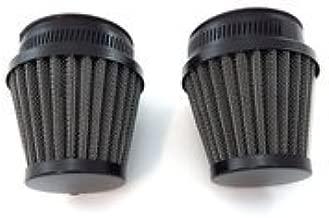 Black Pod Air Filter Pod - 50mm Set of 2 - Compatible with Honda Motorcycle CB350 CB360 CB450 CB500T