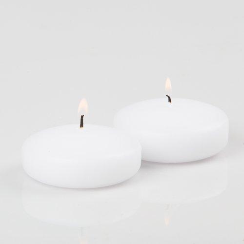 Richland Set of 12 Floating Candles 3', White