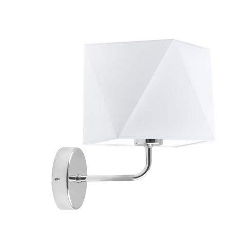 Lámpara de pared TURYN Pantalla Blanco Marco Cromo