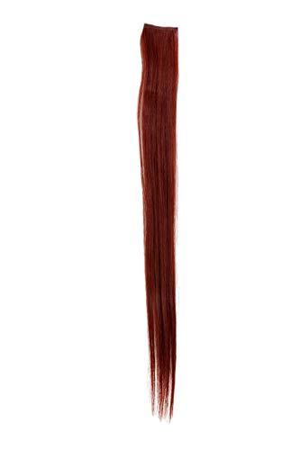 1 Clip Extension avec mèches lisses, rouge YZF-P1S18-35 45cm/ 18inch Extension capillaire postiche Teinte: 35