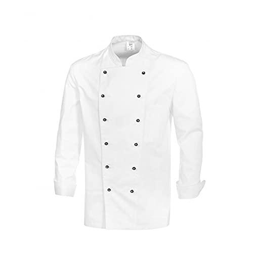 BP 1500-130-21-56 - Chaqueta de cocinero (manga 1/1, 205 g/m², algodón puro), color blanco