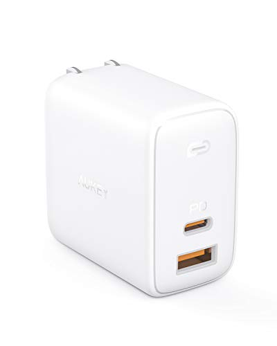 AUKEY Omnia USB充電器 オム二アミックス アダプタ GaN充電器 USB-C急速充電器 65W GaN (窒化ガリウム) 採用 ノートPC充電可能 折畳式 PD3.0搭載 iPhone 12 / 12 Pro / 12 Pro Max /12 Mini / iPhone 11 / 11 Pro / 11 Pro Max/XR / 8 、 Galaxy S10 / S10+、MacBook Pro、その他USB-C機器対応 PA-B3 ホワイト