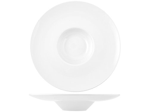 H&H 8720433 Pasta Bowl, Porcellana, Bianco, 33 cm