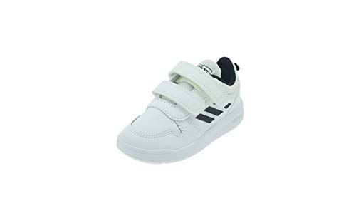 Adidas Tensaur I, Zapatillas de Estar por casa Bebé Unisex, Blanco (Ftwbla/Negbás/Ftwbla 000), 25 EU