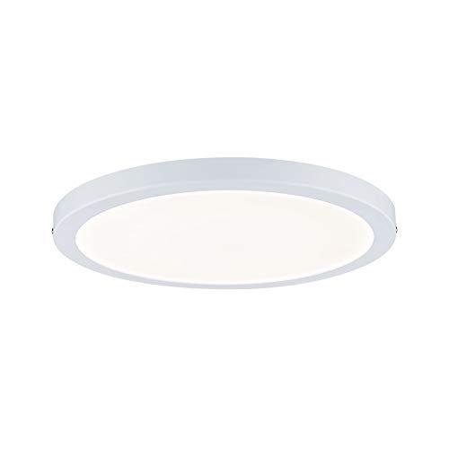 Paulmann 70869 Aufbaupanel LED Atria rund Deckenleuchte 22W Licht 2700K Warmweiß LED Panel Weiß matt dimmbar für Wand- und Deckenmontage