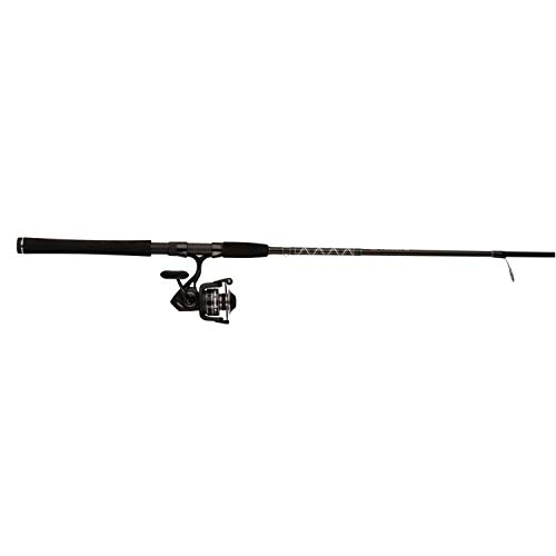 Penn PURIII4000702M Pursuit III 4000 Combo, 4+1 BGR, HT100 Drag Graphite Composite Rod with EVA Handle Dura-Guides 7'2pc. Medium Action
