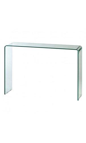 CAMINO A CASA - Console Design en Verre Transparente 110 cm