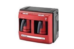 Arcelik – Beko K 3190 P Lal (rot) Telve Türkisch griechisch Arabisch Kaffee Espressokocher, vollautomatisch, zwei Kaffeekannen