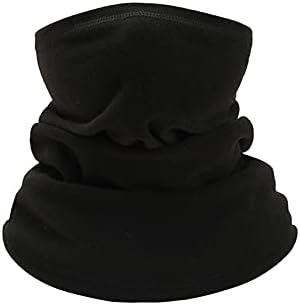 FURASTY Children Scarf Kids Scarves Mask Windproof Bandana Baby Scarf Boys Girls Neck Gaiter Tube Ear Warm Dust Mask Cute Sports Protection Face Mask (Color : Black)
