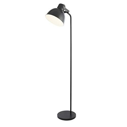 Lighting Collection Modern Industrial Look 1 Light Adjustable Head Floor Lamp, 10 W, Black