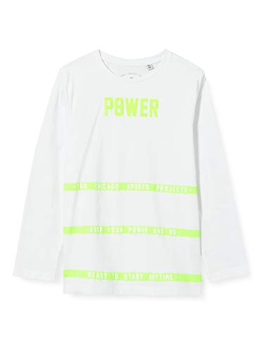 TOM TAILOR Jungen Langarmshirt T-Shirt, Bright White|White, 164