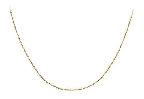 Carissima Gold Damen 9k (375) Gelbgold 0.8mm Diamantschliff Panzerkette 1.13.0032 36cm/14zoll