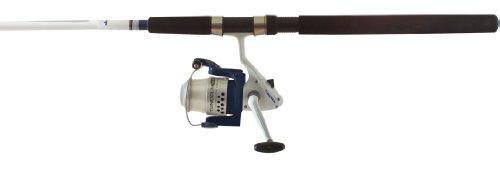 Okuma Fishing TU-802-60 Tundra Combo Spinning Reel (Large, White/Blue)