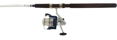 Okuma Fishing TU-1002-80 Tundra Spin Combo 10' Medium/Heavy 2 Piece, White/Blue, Large