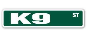 Metal Signs K9 Street Sign Police Dog Canine K-9 swat  Indoor/Outdoor 8X36