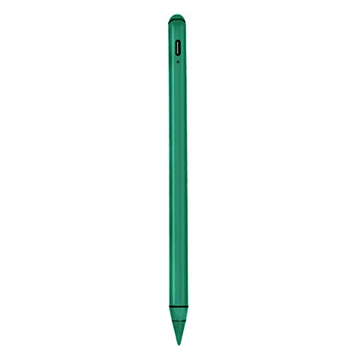 H HILABEE Stylus Pen for iPad, Capacitive Touchscreen Pencil with Magnetic Attachment, High Sensitivity & Fine Point with 2 Spare Tips - Green