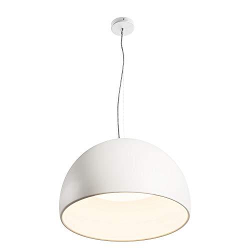 SLV Bela 60, lámpara de suspensión, lavabo, blanco / blanco