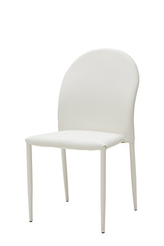 White loft, Set di 4 Sedie, Metallo, Bianco, 44x57x87 cm