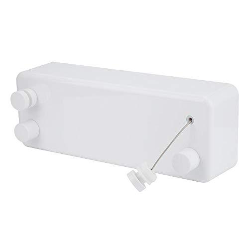 HERCHR Tendedero Interior retráctil, tendedero de Secado de Servicio Pesado con Cuerda Doble de Acero Inoxidable Ajustable para balcón y baño(Blanco)