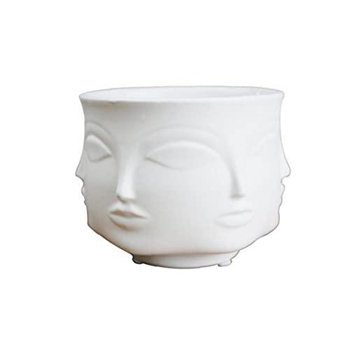 Aiyrchin Vasen Mann Gesichts-Blumen-Vase Home Decoration Vase Moderne Vase aus Keramik Indoor Blumentopf für Blumen-Topf Pflanz Weiß
